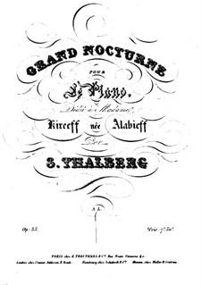 Два ноктюрна, Op.35: Ноктюрн No.1 by Сигизмунд Тальберг