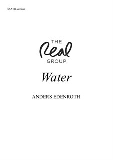 Water: Вокальная партитура by Anders Edenroth