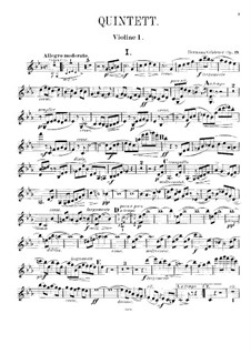 Фортепианный квинтет No.2 до минор, Op.19: Скрипка I by Герман Греденер