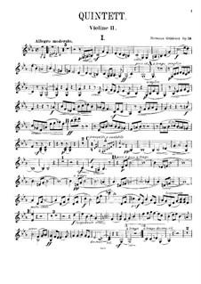 Фортепианный квинтет No.2 до минор, Op.19: Скрипка II by Герман Греденер