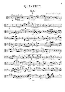 Фортепианный квинтет No.2 до минор, Op.19: Партия альта by Герман Греденер
