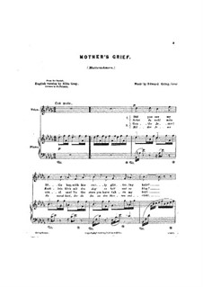 Четыре романса, Op.15: No.4 Горе матери by Эдвард Григ
