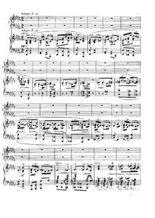 Концерт для фортепиано с оркестром ля минор, Op.16: Часть II. Версия для двух фортепиано в четыре руки by Эдвард Григ