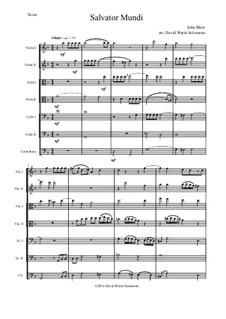 Salvator Mundi: Для струнного оркестра by Джон Блоу