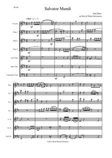 Salvator Mundi: For flute choir by Джон Блоу
