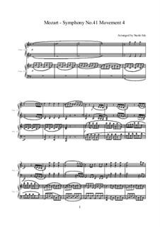 Симфония No.41 до мажор 'Юпитер', K.551: Movement IV, for two pianos four hands by Вольфганг Амадей Моцарт
