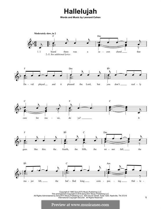 Hallelujah: Для гитары by Leonard Cohen