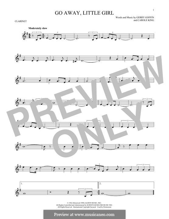 Go Away, Little Girl: Для кларнета by Carole King, Gerry Goffin