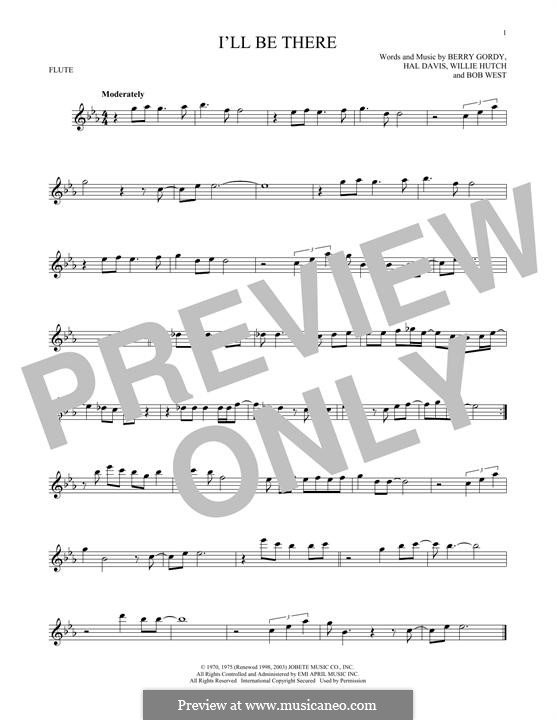 I'll Be There: Для флейты by Berry Gordy, Bob West, Hal Davis, Willie Hutch
