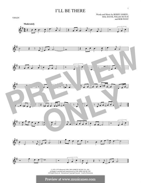 I'll Be There: Для скрипки by Berry Gordy, Bob West, Hal Davis, Willie Hutch