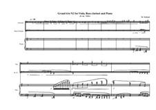 Grande trio No.2: For viola, bass clarinet and piano, MVWV 350b by Maurice Verheul