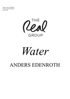 Water: 6-part add-on choir by Anders Edenroth