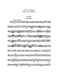 Большая месса до минор, K.427, K.417a: Партия виолончели by Вольфганг Амадей Моцарт
