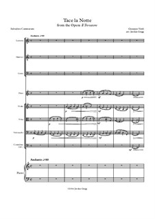 Tacea la notte placida: Ful score, parts by Джузеппе Верди