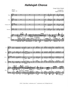 No.44 Аллилуйя: For woodwind quartet (with accompaniment track) by Георг Фридрих Гендель