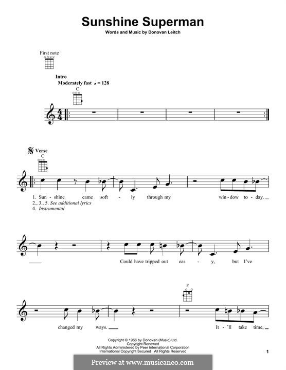 Sunshine Superman: Для укулеле by Donovan Leitch