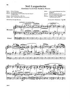 Livre de Noëls (Christmas Carols), Op.60: Book II. Noël Languedocien by Александр Гильман