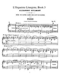 L'organiste liturgiste, Op.65: Книга III by Александр Гильман