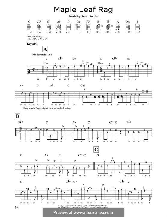 Maple Leaf Rag (Printable Scores): For banjo by Скотт Джоплин
