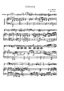 Двенадцать сонат для скрипки и бассо континуо, Op.5: Соната No.12 для скрипки и фортепиано by Жан-Мари Леклер