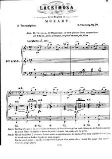 Лакримоза из 'Реквием' и Дуэт из оперы 'Свадьба Фигаро', K.626, 492: Лакримоза из 'Реквием' и Дуэт из оперы 'Свадьба Фигаро' by Вольфганг Амадей Моцарт