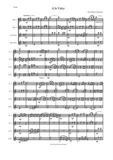 A la valse: Для квартета флейт by Дэвид Соломонс