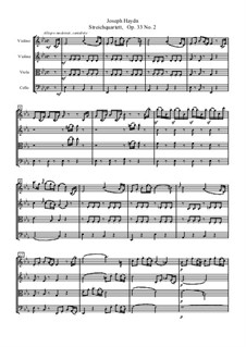 Струнный квартет No.30 ми-бемоль мажор 'The Joke', Hob.III/38 Op.33 No.2: Партитура by Йозеф Гайдн