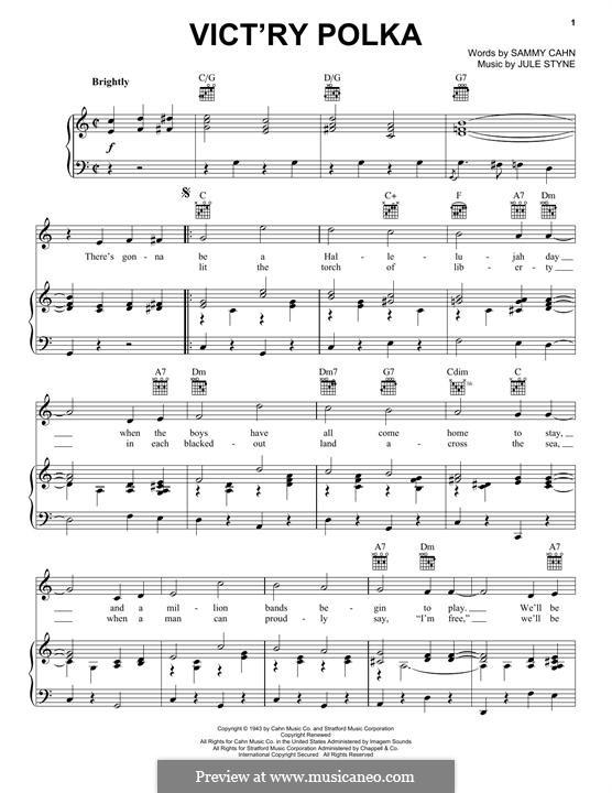 Vict'ry Polka: Для голоса и фортепиано (или гитары) by Jule Styne