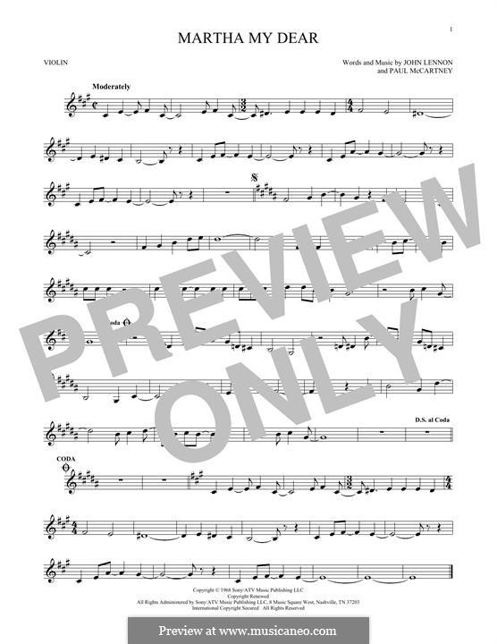 Martha My Dear (The Beatles): Для скрипки by John Lennon, Paul McCartney
