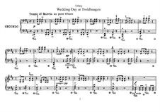 Лирические пьесы, Op.65: No.6 Свадебный день в Трольхаугене, для фортепиано в четыре руки by Эдвард Григ