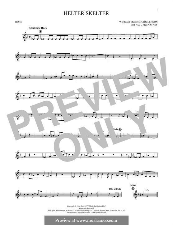 Helter Skelter (The Beatles): For horn by John Lennon, Paul McCartney