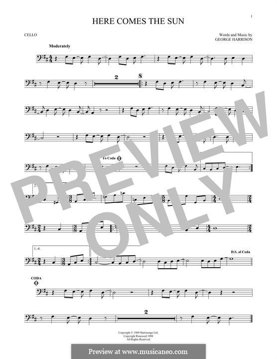 Here Comes the Sun (The Beatles): Для виолончели by George Harrison