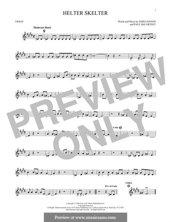 Helter Skelter (The Beatles): Для скрипки by John Lennon, Paul McCartney