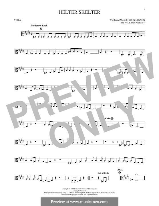 Helter Skelter (The Beatles): For viola by John Lennon, Paul McCartney