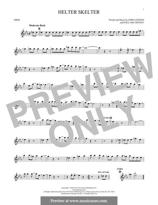Helter Skelter (The Beatles): For oboe by John Lennon, Paul McCartney