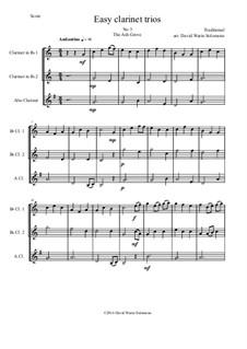 15 easy clarinet trios: No.3 The Ash Grove (Llwyn Onn) by folklore