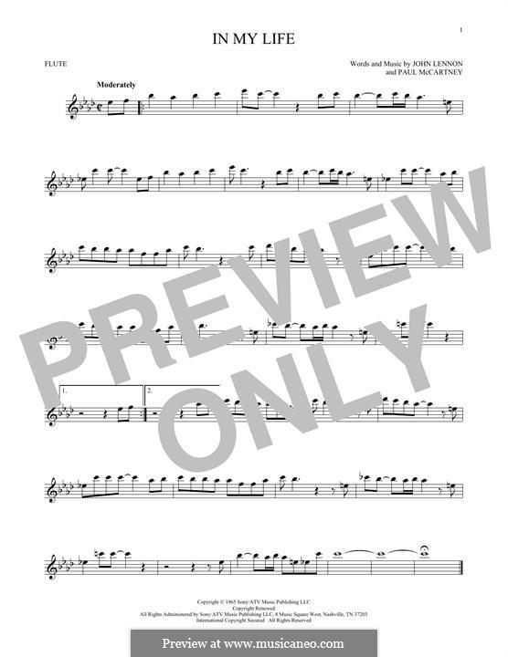 In My Life (The Beatles): Для флейты by John Lennon, Paul McCartney