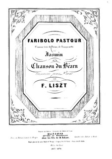 Two Pieces, S.236: No.2 Chanson du Béarn by Франц Лист