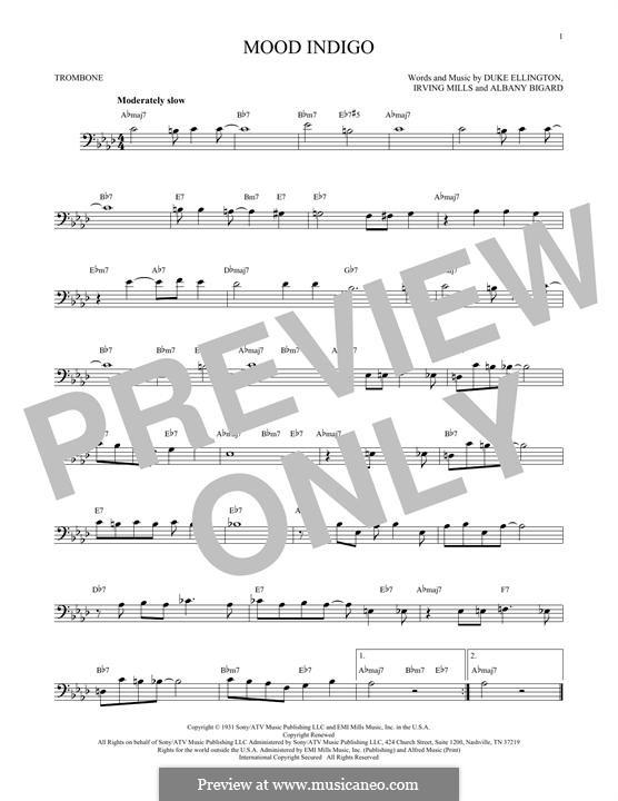 Mood Indigo: For trombone by Irving Mills, Albany Bigard, Duke Ellington
