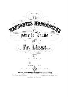 No.6 ре-бемоль мажор, для фортепиано, S.244: Для одного исполнителя by Франц Лист