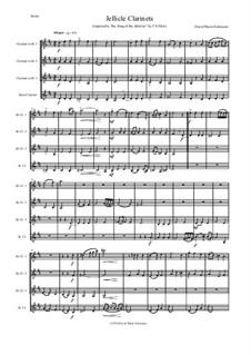 Jellicle Catgut: For clarinet quartet (3 B flats and 1 Bass) by Дэвид Соломонс