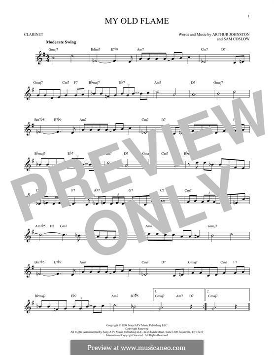 My Old Flame: Для кларнета by Sam Coslow, Arthur Johnston