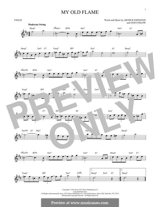 My Old Flame: Для скрипки by Sam Coslow, Arthur Johnston