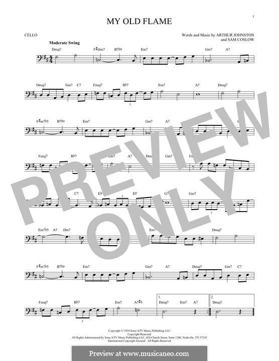 My Old Flame: Для виолончели by Sam Coslow, Arthur Johnston