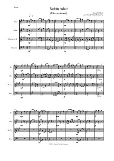 Robin Adair: For wind quartet by Carroll O'Daly