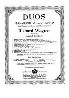 Чудо Страстной Пятницы: Для фисгармонии и фортепиано by Рихард Вагнер