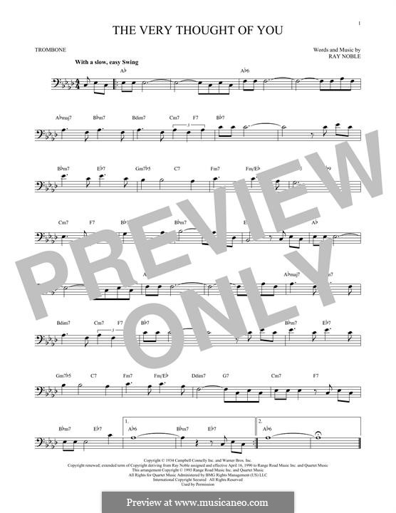 The Very Thought of You: For trombone by Ray Noble