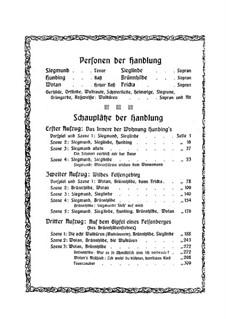 Валькирия, WWV 86b: Акт I, для солистов и фортепиано by Рихард Вагнер