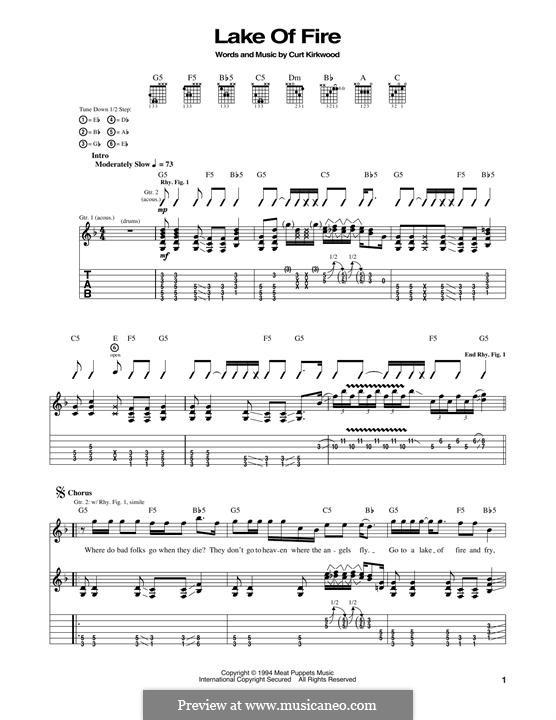 Lake of Fire (Nirvana): Гитарная табулатура by Curt Kirkwood