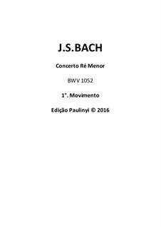 Концерт для клавесина и струнных инструментов No.1 ре минор, BWV 1052: Violin solo complete part for performance by Иоганн Себастьян Бах